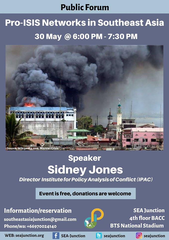 """19.Public-Talk-""""Pro-ISIS-Networks-in-Southeast-Asia""""-by-Sidney-Jones-on-30.05.19"""