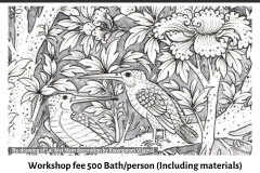 14.Workshop-on-Drawing-Birds-from-Lai-Rot-Nam-Decoration-by-Kwanpoom-on-21.04.19