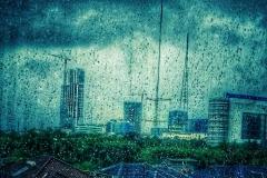 Modernity in the rain in Jakarta