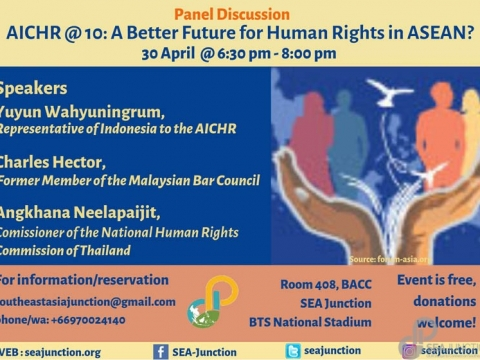 AICHR @10: A Better Future for Human Rights in ASEAN? April 30 @ 6:30 pm - 8:00 pm