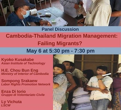 Cambodia-Thailand Migration Management: Failing Migrants? May 6 @ 5:30 pm - 7:30 pm