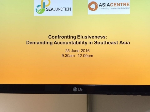 "Inaugural Panel ""Confronting Elusiveness"" with the Asia Centre on 25 June 2016"