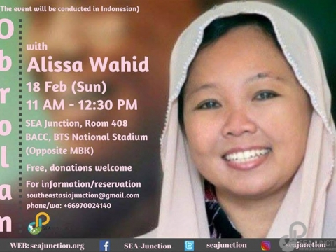 Obrolan with Alissa Wahid (in Indonesian) February 18 @ 11:00 am – 12:30 pm