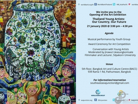 "Opening Reception of ""Thailand Young Artists: Our Country, Our Future"" Art Exhibition 21 January 2020 @ 3:00 pm - 4:30 pm"