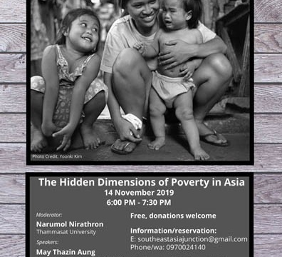 """Panel Discussion """"The Hidden Dimensions of Poverty in Asia"""" 14 November 2019 @ 6:00 pm - 7:30 pm"""