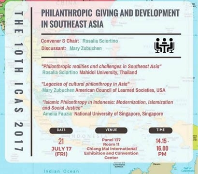 Philanthropic Giving and Development in Southeast Asia 21 July 2017 at 2:15 pm - 4:00 pm