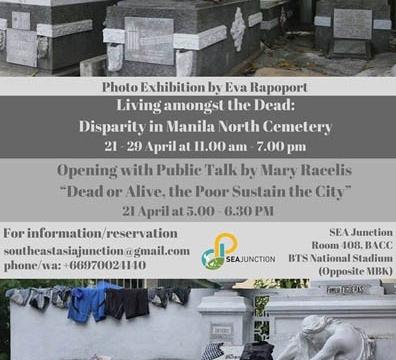Photo Exhibition Living amongst the Dead: Disparity in Manila North Cemetery by Eva Rapoport April 21 @ 11:00 am - April 29 @ 7:00 pm