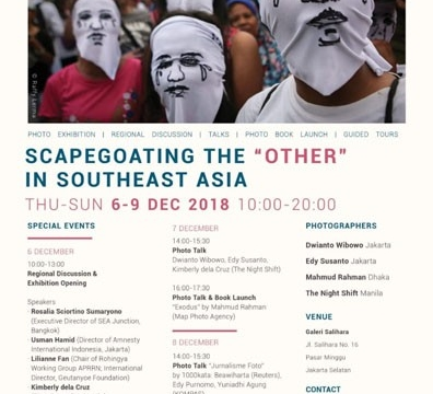 """Photo Exhibition """"Scapegoating the Other in Southeast Asia"""" December 6 @ 10:00 am - December 9 @ 8:00 pm"""