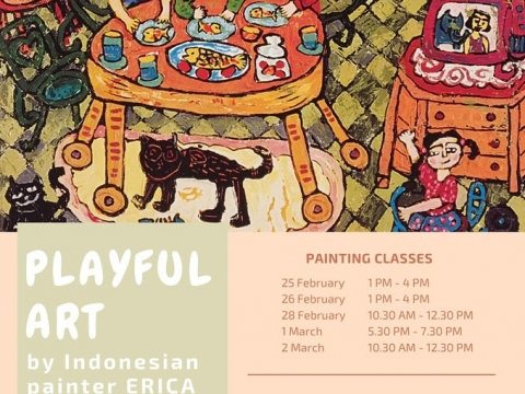 Playful Art by Indonesian Painter ERICA from 25 February to 5 March 2017