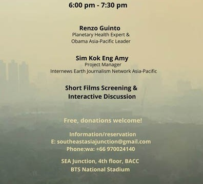 Protecting Human Health in the era of Climate Change: Challenges and Opportunities in Southeast Asia 30 January 2020 @ 6:00 pm - 7:30 pm