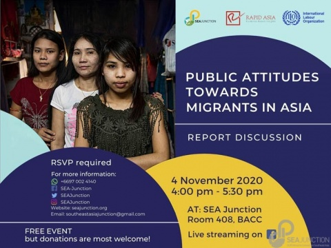 Public Attitudes Towards Migrant Workers in Asia 4 November 2020 @ 04:00 – 05:30 pm