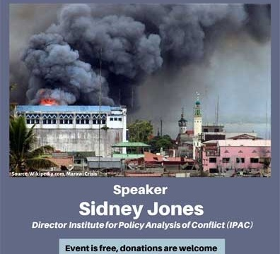 """Public Talk """"Pro-ISIS Networks in Southeast Asia"""" by Sidney Jones May 30 @ 6:00 pm - 7:30 pm"""