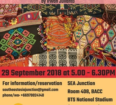 "Show and Tell Introduction to the ""Intricacies of West Timor Textiles and Weaving Techniques"" by Irwan Julianto September 29 @ 5:00 pm - 6:30 pm"