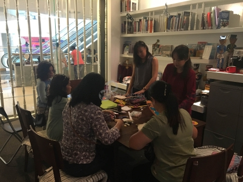 Classes on Making Handmade Drink Coasters from Southeast Asian Textiles on 10 and 17 August 2016