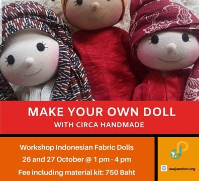 Workshop on Indonesian Dolls by Saepudin and Wati Astuti 26-27 October 2019 @ 1:00 pm - 4:00 pm