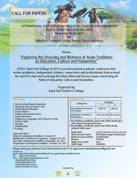 International Conference on Education, Culture and Humanities (ICEC